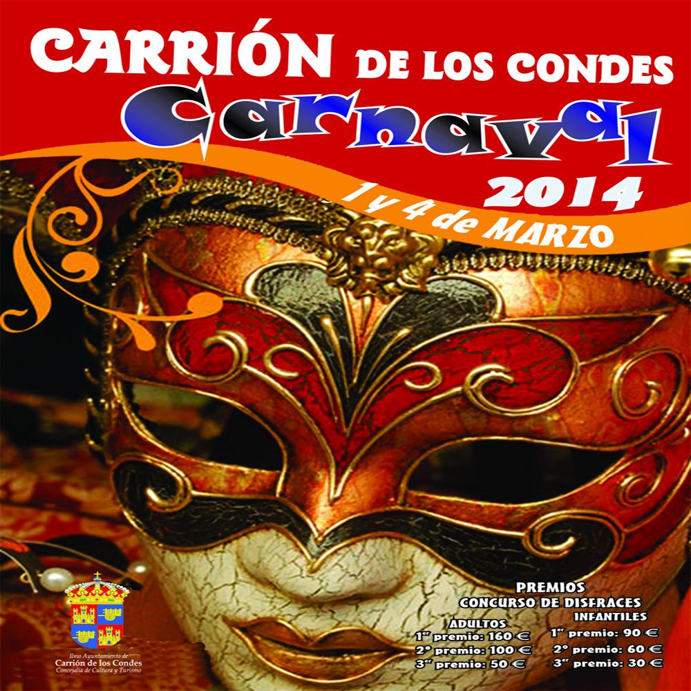 Cartel premios carnaval 2014 Carrión de los Condes