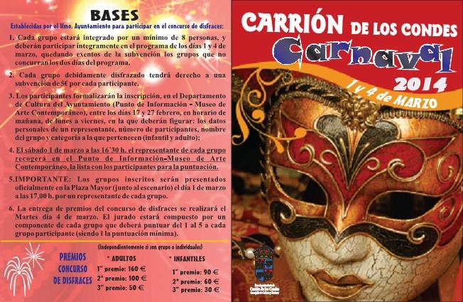 Bases carnaval 2014 Carrión de los Condes