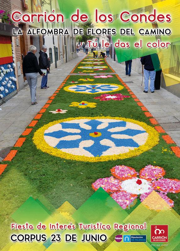 La Alfombra de Flores del Camino de Santiago - Carrión de los Condes