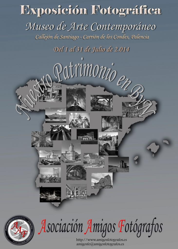 Cartel de la exposición fotográfica de Carrión de los Condes