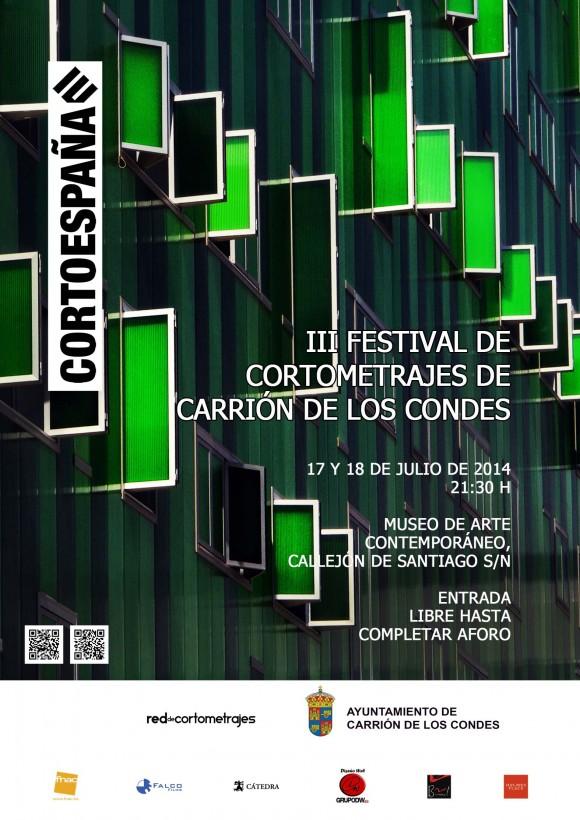 Cartel III festival de cortometraje en Carrión de los Condes