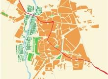 Plano del camino de santiago francés Carrión de los condes