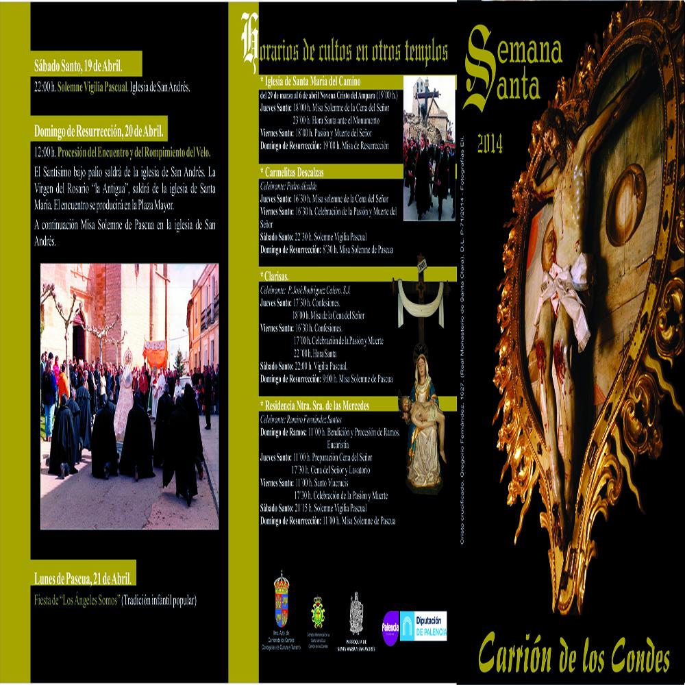 Programa semana santa en Carrión de los Condes