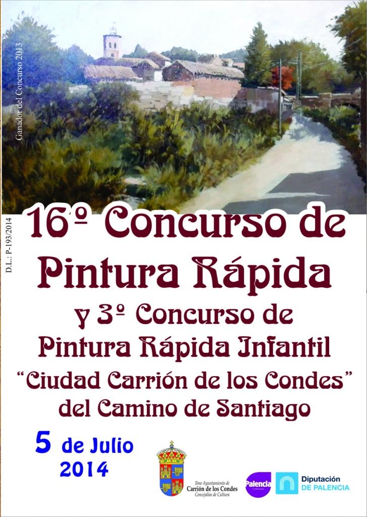 Cartel concurso de pintura rápida de Carrión de los Condes