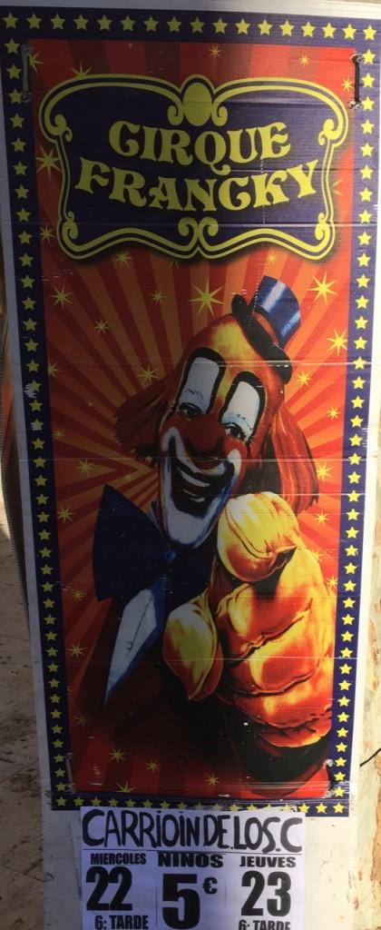 Cartel circo Carrión de los Condes