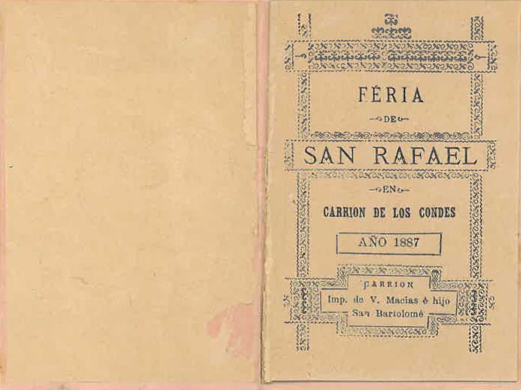 Feria San Rafael 1887 Carrión de los Condes