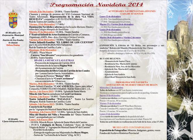 Programa-de-navidad-2014- Carrión de los Condes