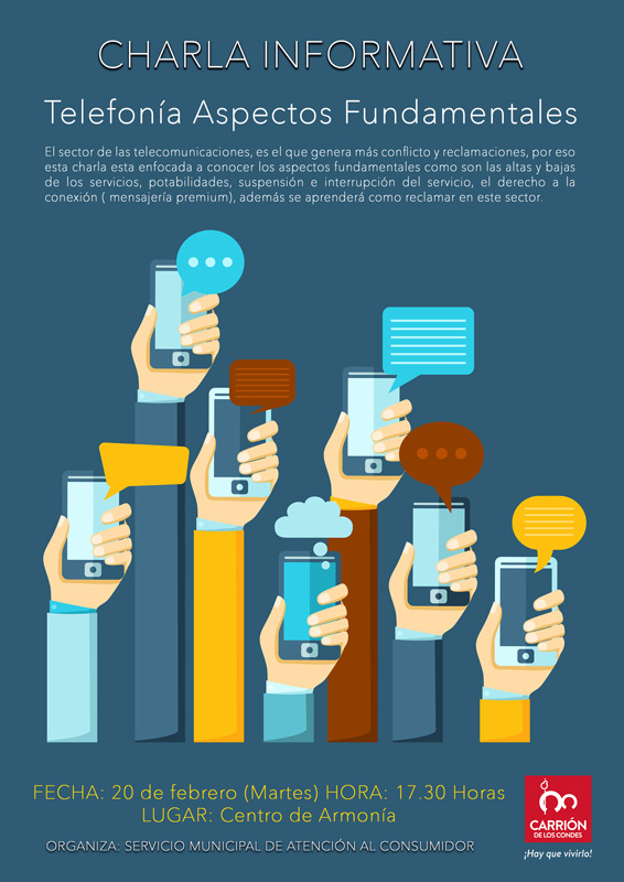 Charla Informativa sobre telefonía, altas, bajas, portabilidades, reclamaciones... Ayto Carrión de los Condes