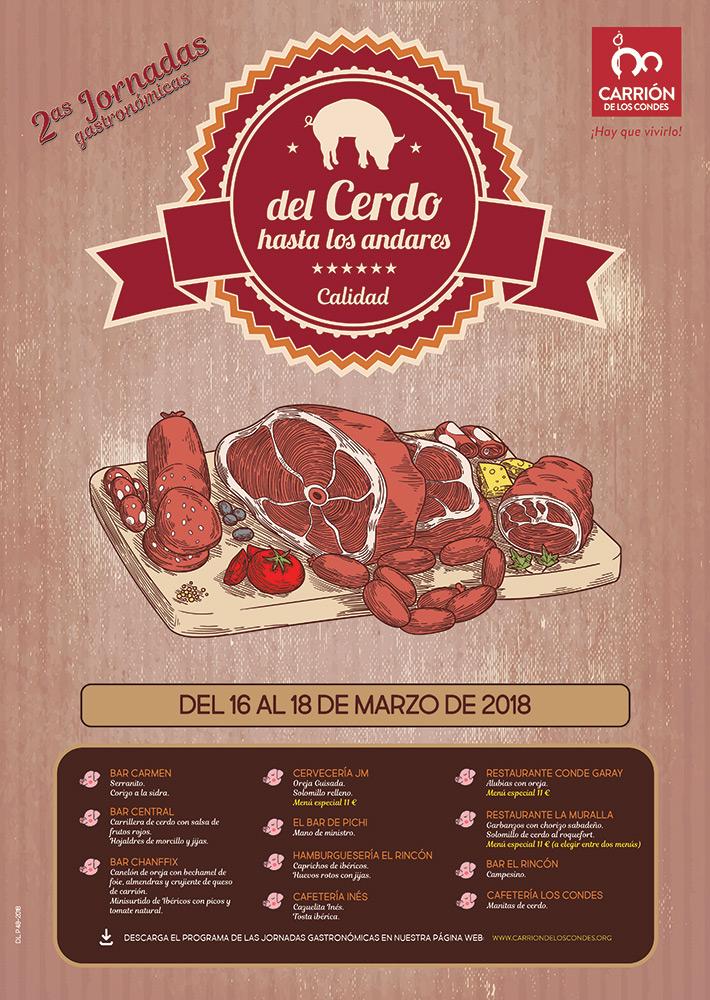 """Segundas jornadas gastronómicas """"del cerdo hasta los andares"""" en Carrión de los Condes"""