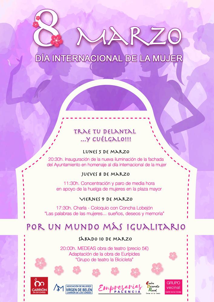 8 de marzo, día internacional de la mujer en Carrión de los Condes