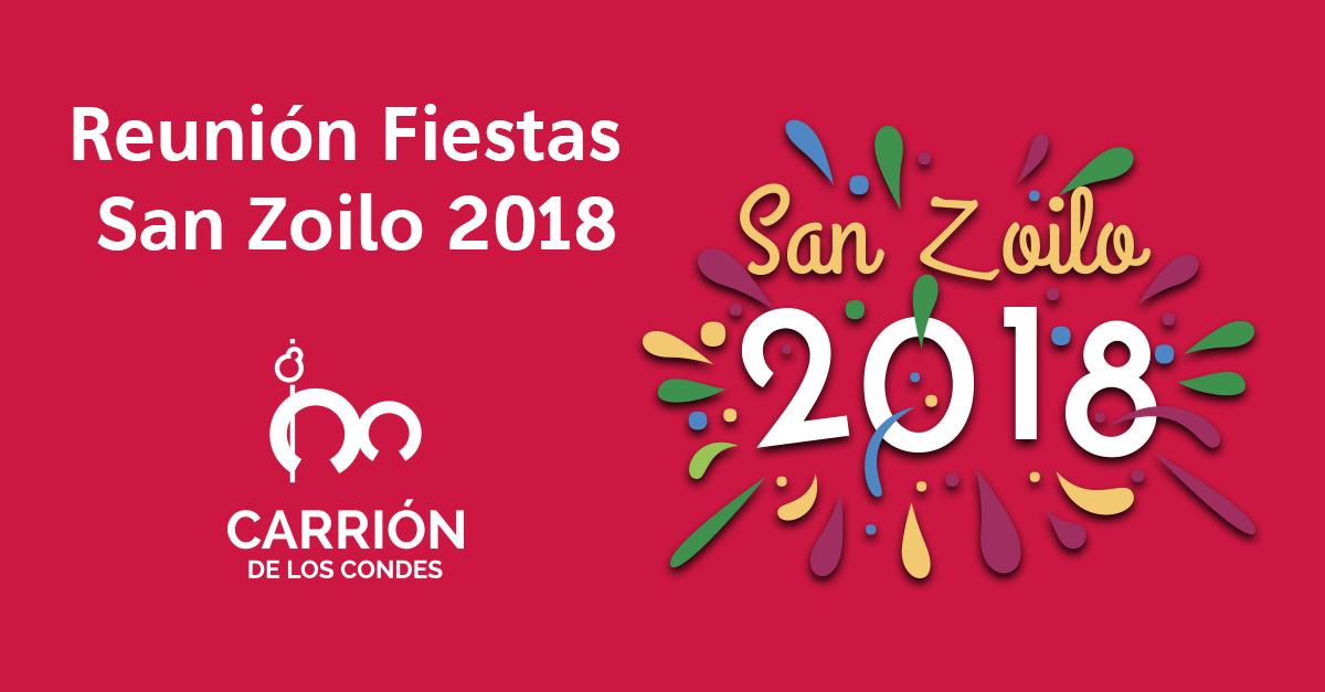 Reunión Fiestas San Zoilo 2018