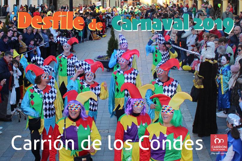 Carrión de los condes reluce con su desfile de disfraces de carnaval 2019