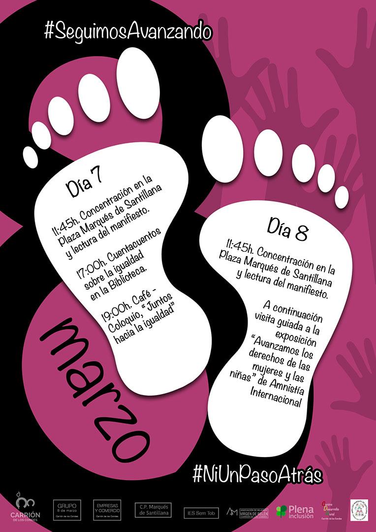 Programa para la celebración del 8 marzo.
