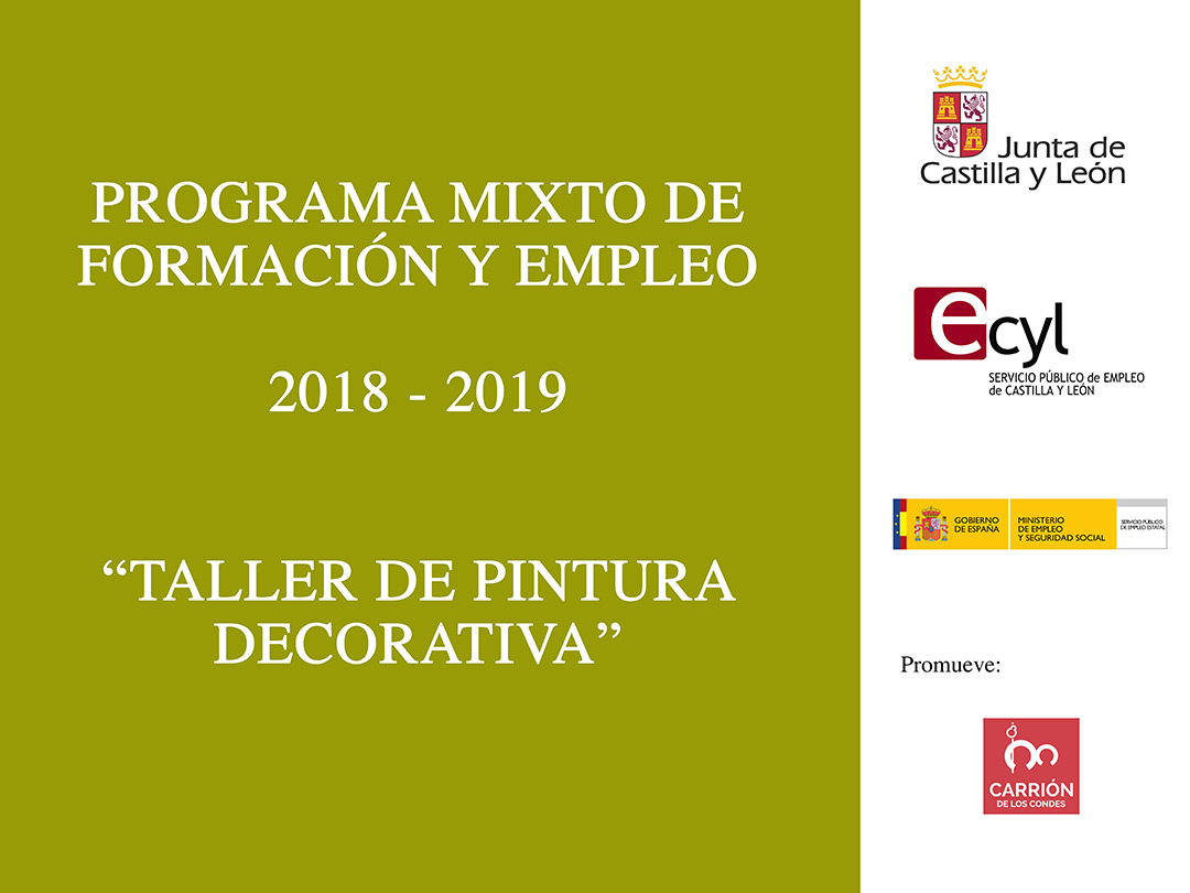 Programa Mixto de Formación y Empleo «Taller de pintura decorativa».