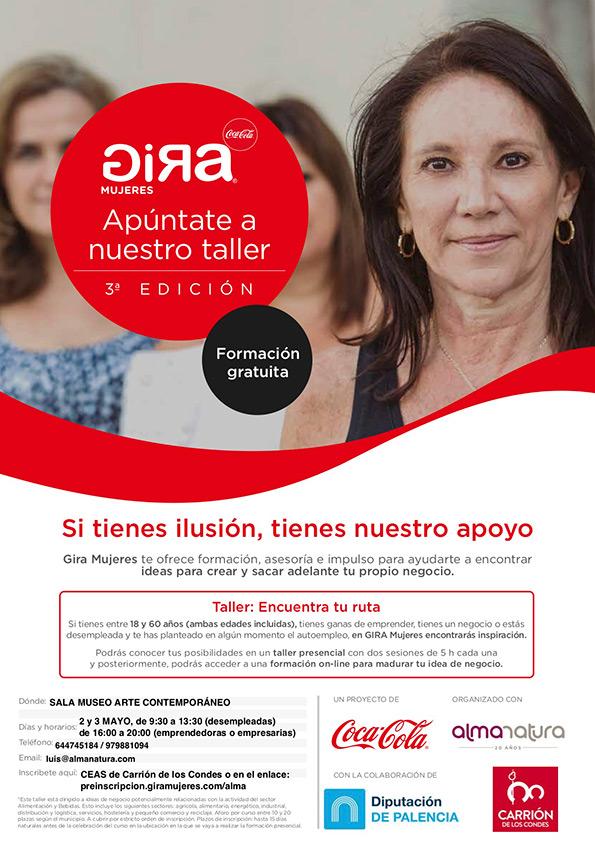 Proyecto GIRA Mujeres de Coca-Cola y la colaboración de la Diputación de Palencia y el Ayuntamiento de Carrión de los Condes