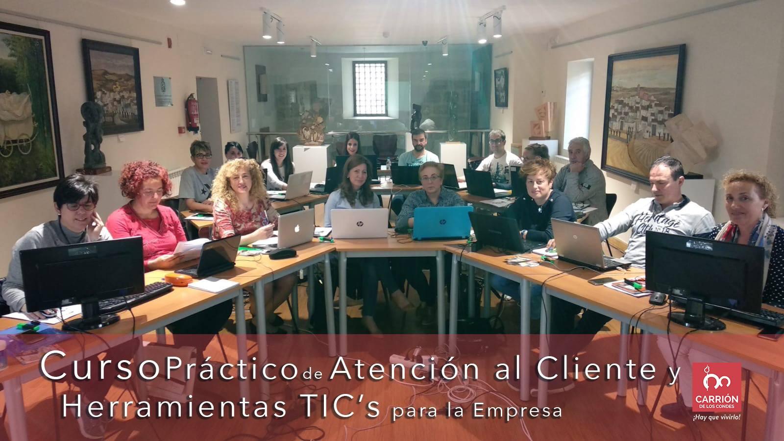 Curso de Atención al Cliente y Herramientas TIC para la empresa en Carrión de los Condes dentro de los proyectos formativos para el desarrollo de la comarca de Tierra de Campos Palentina