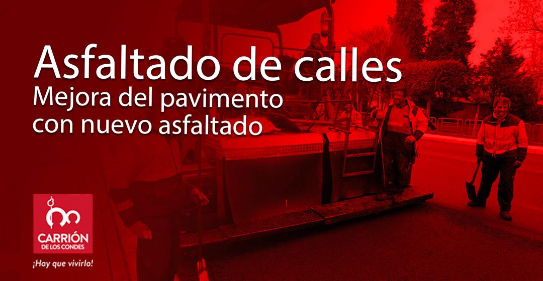 El Ayuntamiento arreglará el asfalto de 8 calles de Carrión de los Condes