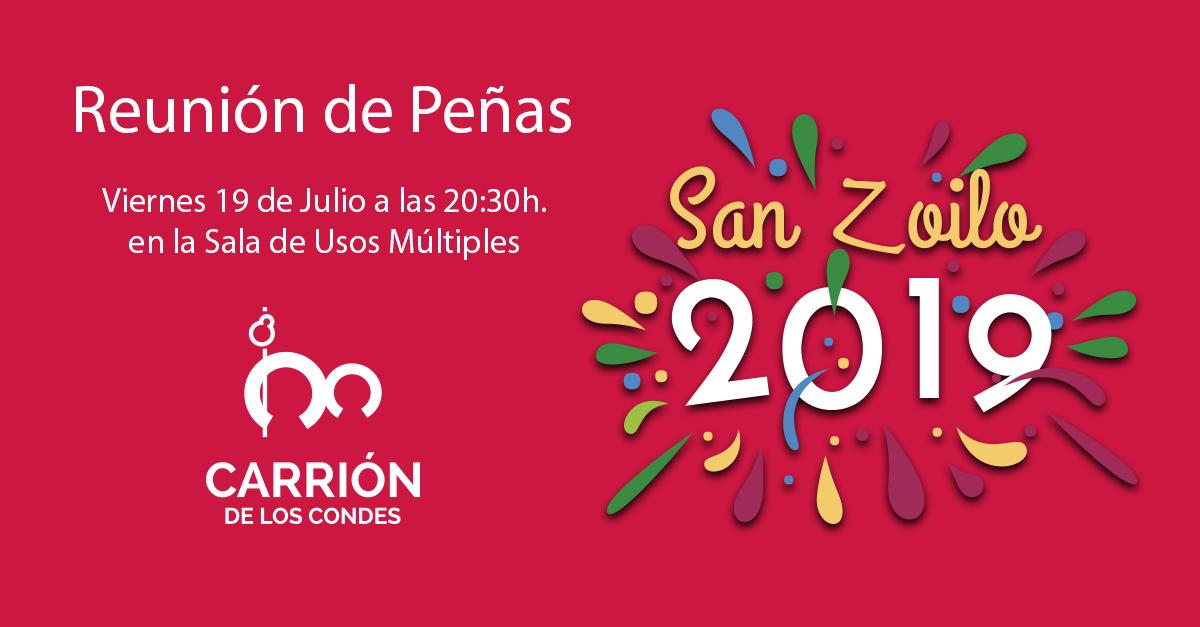 Reunión de Peñas con motivo de las Fiestas de San Zoilo 2019