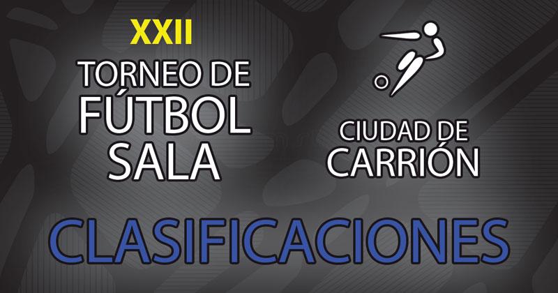 Clasificaciones XXII Torneo de Fútbol Sala «Ciudad de Carrión» 2019