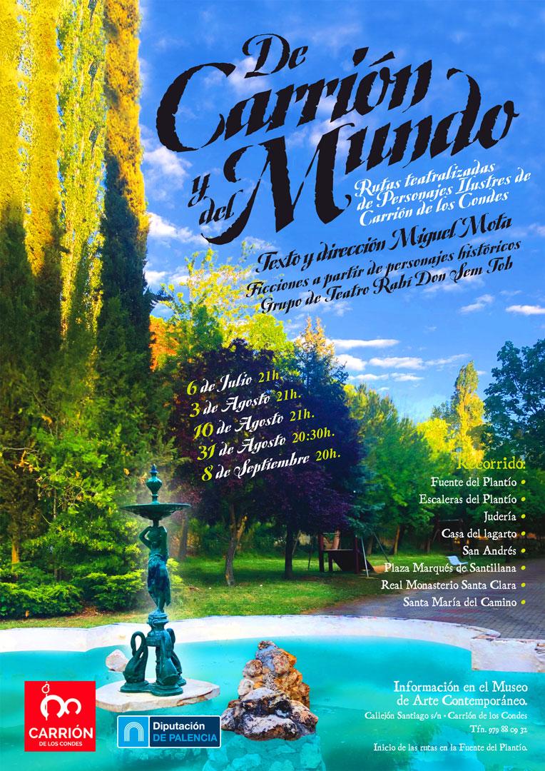 Ruta Teatralizada de personajes ilustres de Carrión de los Condes - Sábado 10 de Agosto 21:00 h