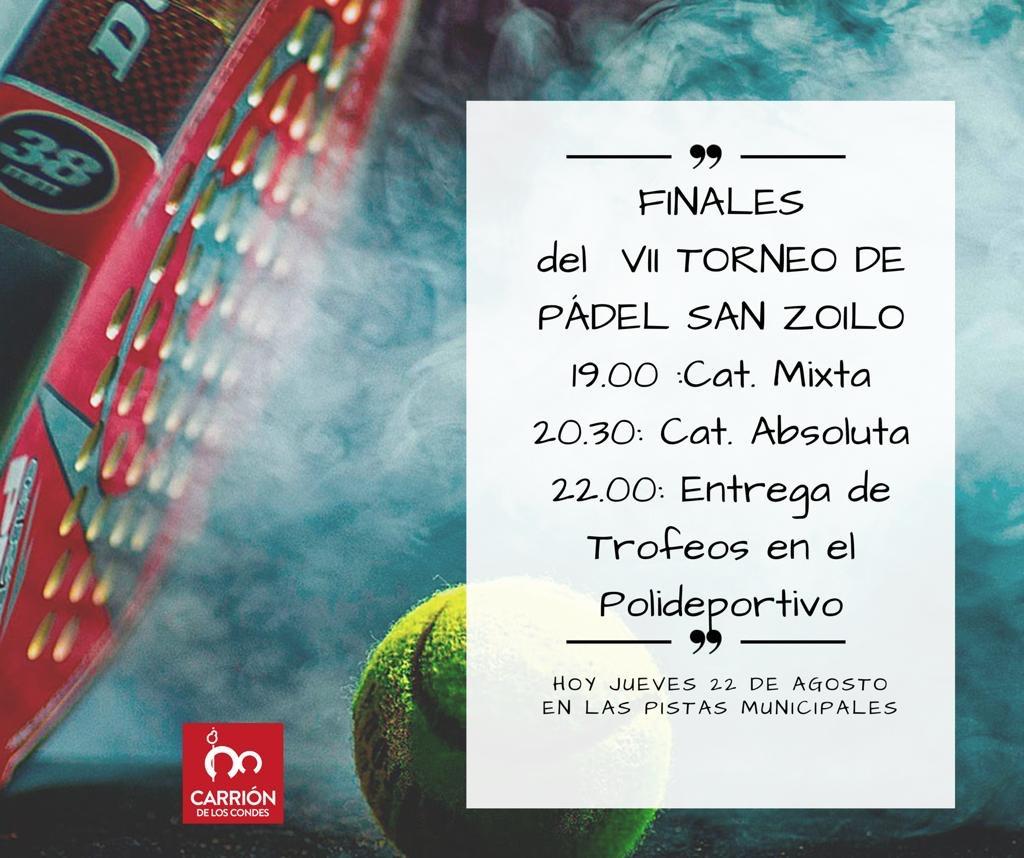 FINALES DEL VII TORNEO DE PÁDEL SAN ZOILO