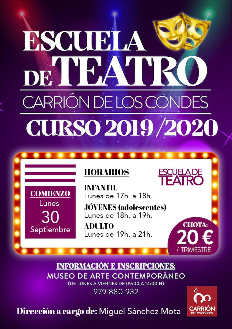 Escuela de Teatro Carrión de los Condes curso 2019/2020