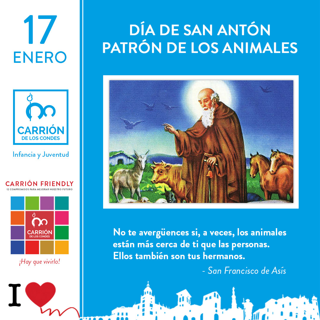 17 Día de Enero San Antón Patrón de los Animales