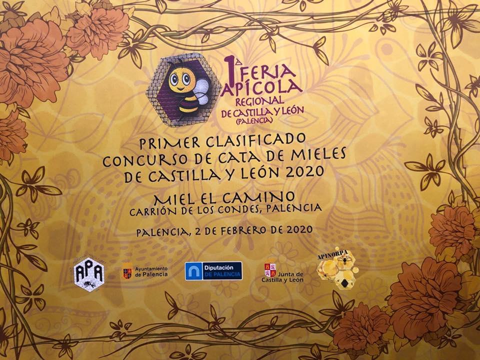 """Primer premio para la miel de Carrión """"El Camino"""" en la I Feria Apícola Regional de Castilla y León"""