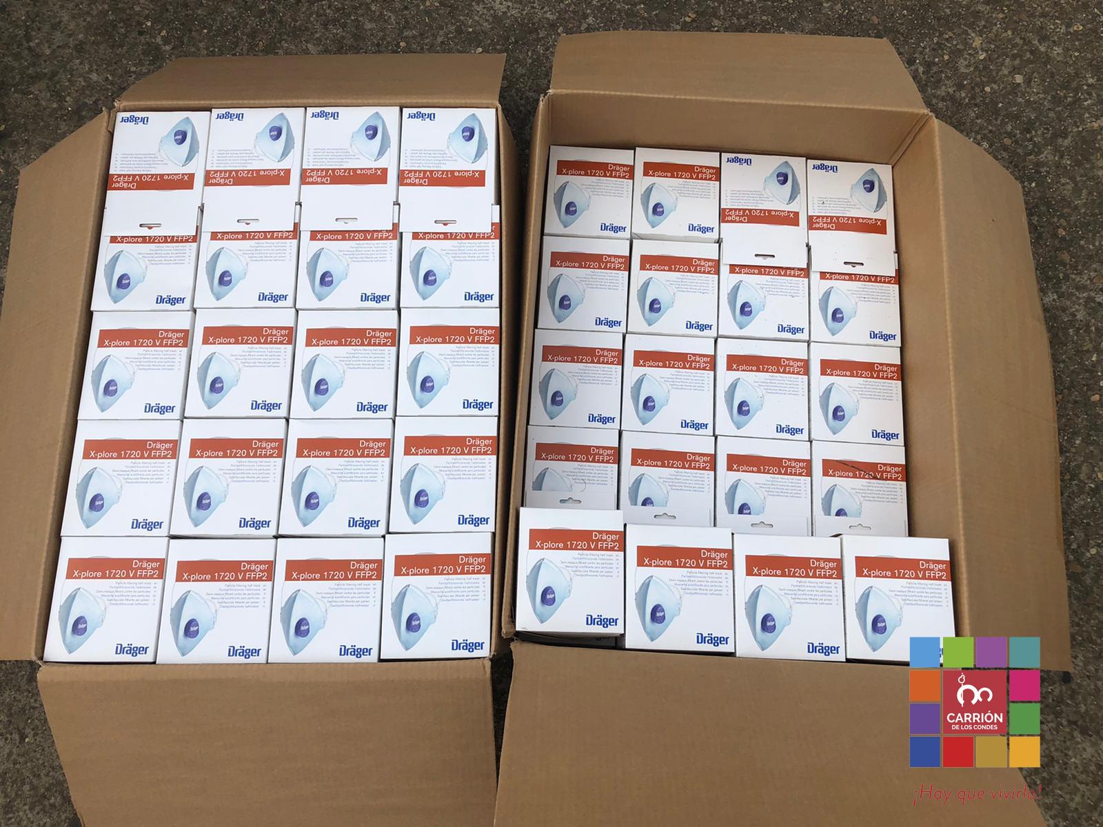 El Ayuntamiento de Carrión de los Condes dona más de 600 mascarillas para la prevención del COVID-19.