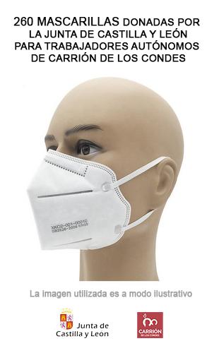 Reparto de mascarillas para trabajadores autónomos