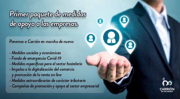 Primer paquete de medidas de apoyo a las empresas