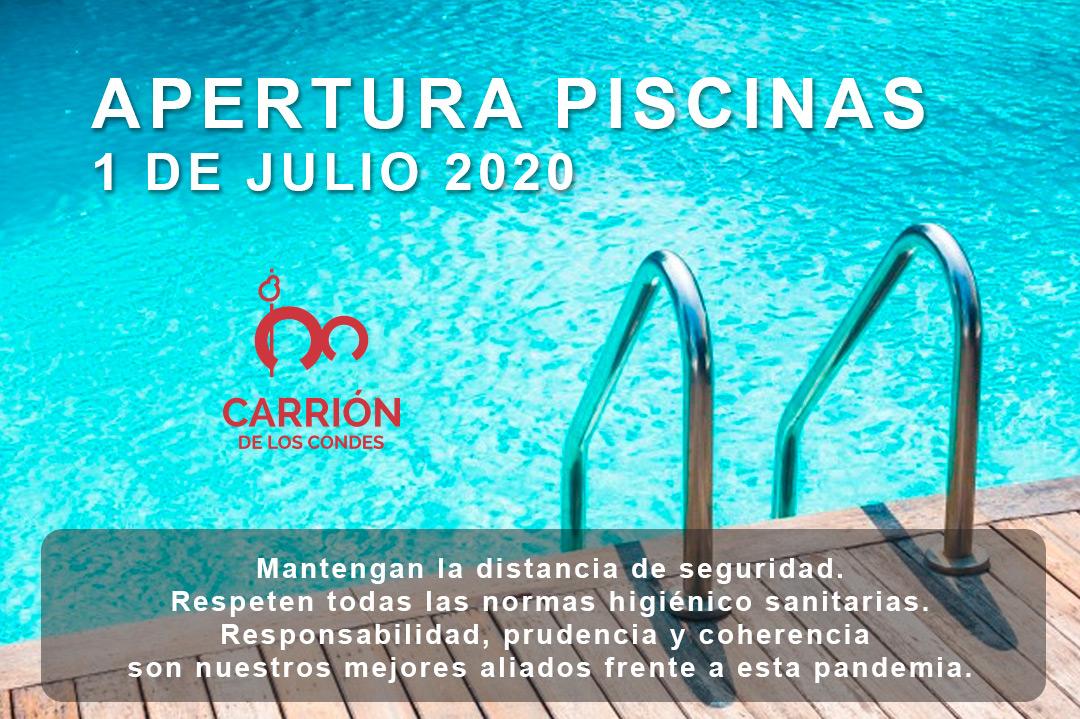 1 de julio apertura de la piscina municipal de Carrión de los Condes