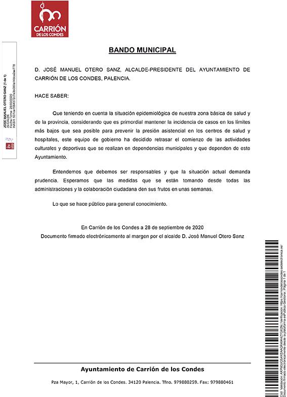 BANDO RETRASO INICIO ACTIVIDADES