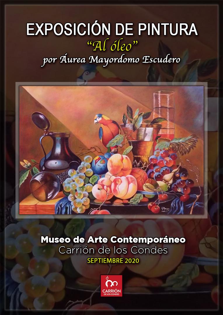Cartel Exposición de pintura al óleo en septiembre