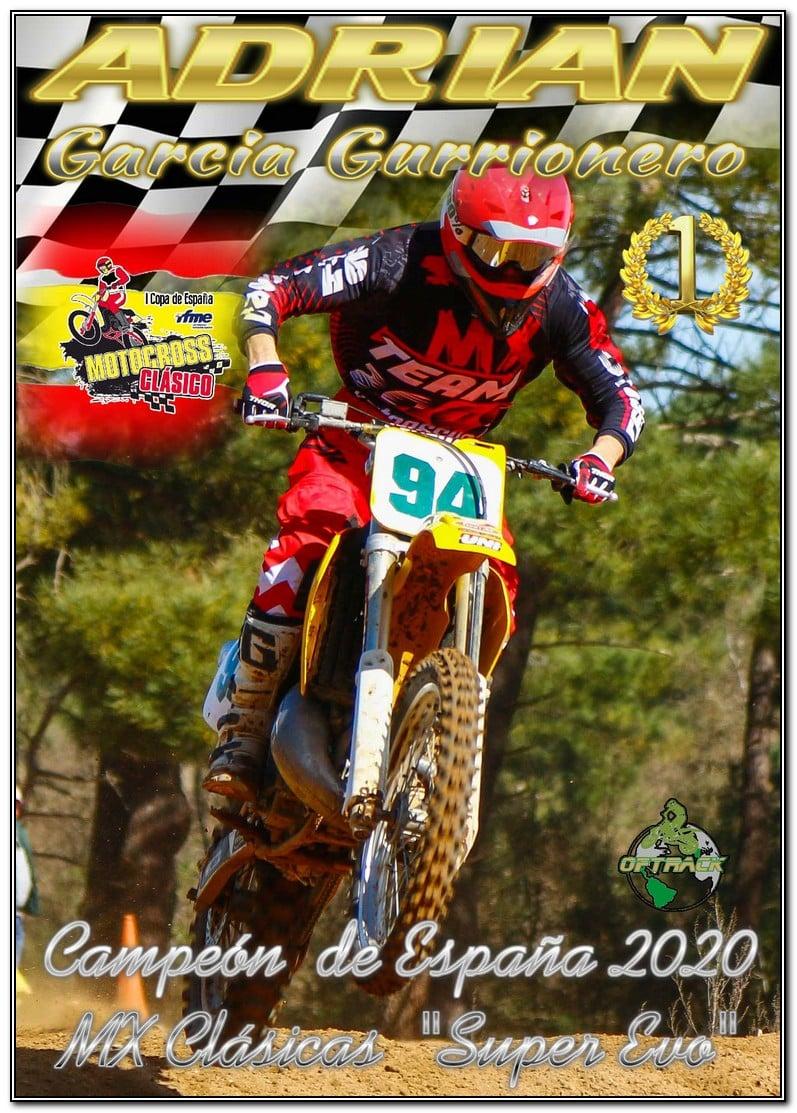 Adrian Garcia Gurrionero Campeón de España de MotoCross 2020