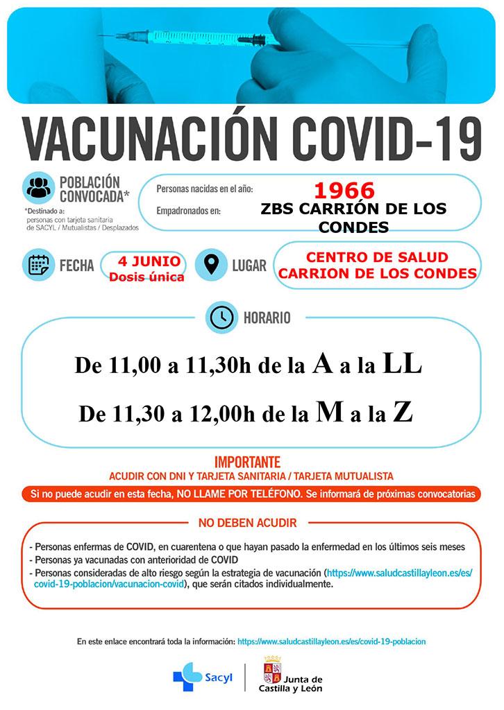 Vacunación COVID-19 Años 1966