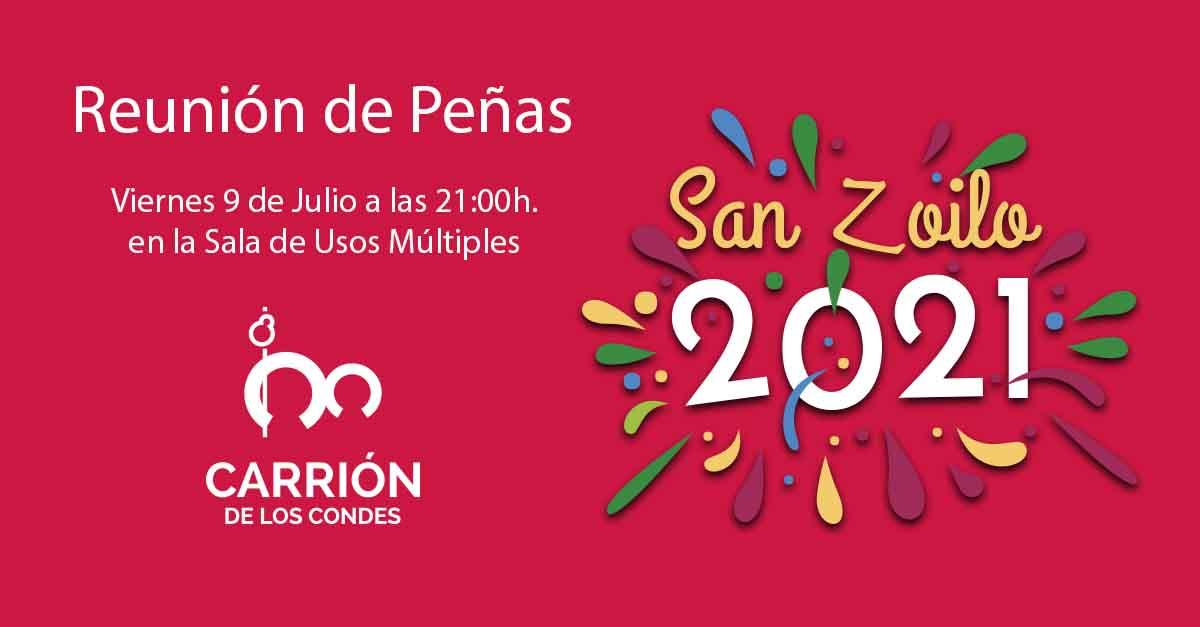Reunión de Peñas con motivo de las Fiestas de San Zoilo 2021
