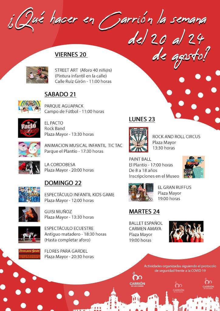 ¿Qué hacer en Carrión la semana del 20 al 24 de agosto?