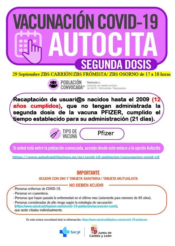AUTOCITA_C.S. CARRIÓN_29 SEPTIEMBRE HASTA 2009_ 2ª DOSIS.