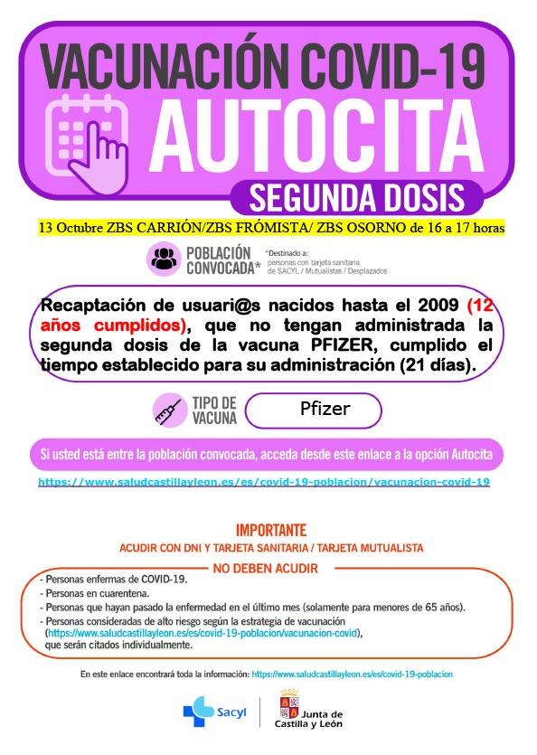 AUTOCITA_C.S. CARRIÓN_13 OCTUBRE HASTA 2009_ 2ª DOSIS.